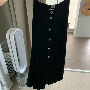 Aritzia Wilfred Midi Black Skirt